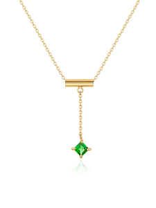 Equilibre Collection 18K黄金沙弗莱石项链 ¥4399